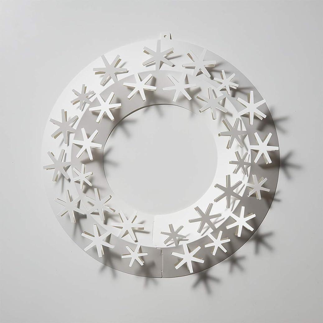 ルネッサンスどっち適性Paper wreath ペーパーリース ( 雪 / S )