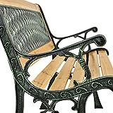ArtLife 2-Sitzer Gartenbank Pisa aus lackiertem Holz & Gusseisen - 5