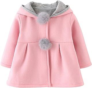evalianaベビー女の子子供用幼児ウサギバニー耳フード付きアウタージャケットコート