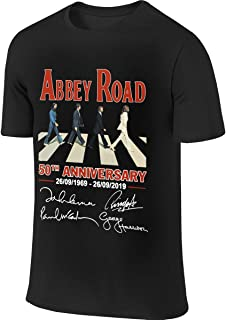 BTVE Abbey Road 50th Anniversary The Beatles Signatures 1969-2019 Funny Outdoor Black T-Shirt