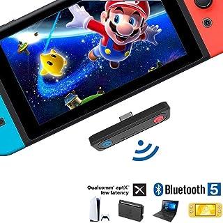 Nintendo Switch Bluetooth オーディオアダプター【最新発売 Bluetooth5.0 &超薄型 】Switch有機ELモデル/ Switch lite PS5 PS4 PC用 ワイヤレスレシーバー ワイヤレストランスミッ...