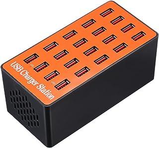 Docooler 100W 20 Port USB Ladegerät Adapter Smart Ladestation mit Auto erkennen Tech und Faltbare Stecker