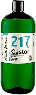 Naissance Aceite de Ricino BIO 1 Litro - Puro natural certificado ecológico prensado en frío vegano sin hexano no OG...