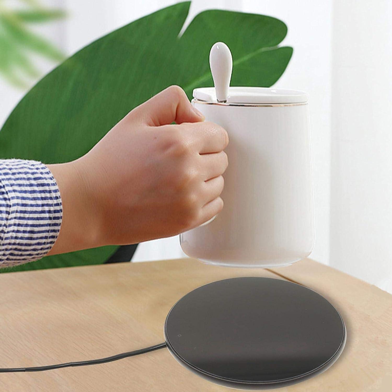 Kaffee Kaffeetassenw/ärmer f/ür das B/üro zu Hause Tragbarer USB-Kaffeetassenw/ärmer f/ür den Schreibtisch intelligenter Kaffeew/ärmer zum Erhitzen von Milch Getr/änkeheizplatte