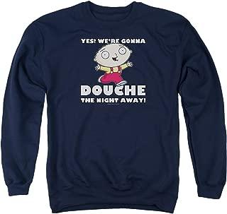 Family Guy TV Comedy Stewie Douche The Night Away Adult Crewneck Sweatshirt