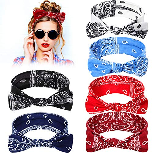 6 pieces paisley headbands boho