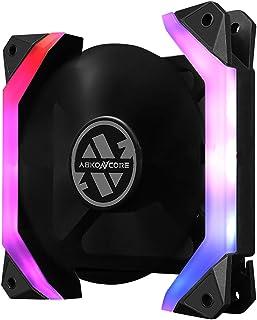 Abkoncore Spider Spectrum Fan - Ventilador de Carcasa (1 Unidad), Color Negro
