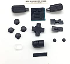 LR Left Right ABXY Direction Full Button Set for Nintendo DS Lite DSL NDSL ABXY Buttons Replacement - Black