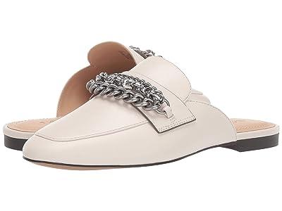 COACH Faye Multi Chains Loafer Slide (Chalk Leather) Women