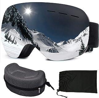 sancuanyi Skidglasögon dam och män snowboardglasögon dubbla glas antibeslags och UV-skydd för snowboard skidåkning motorcy...