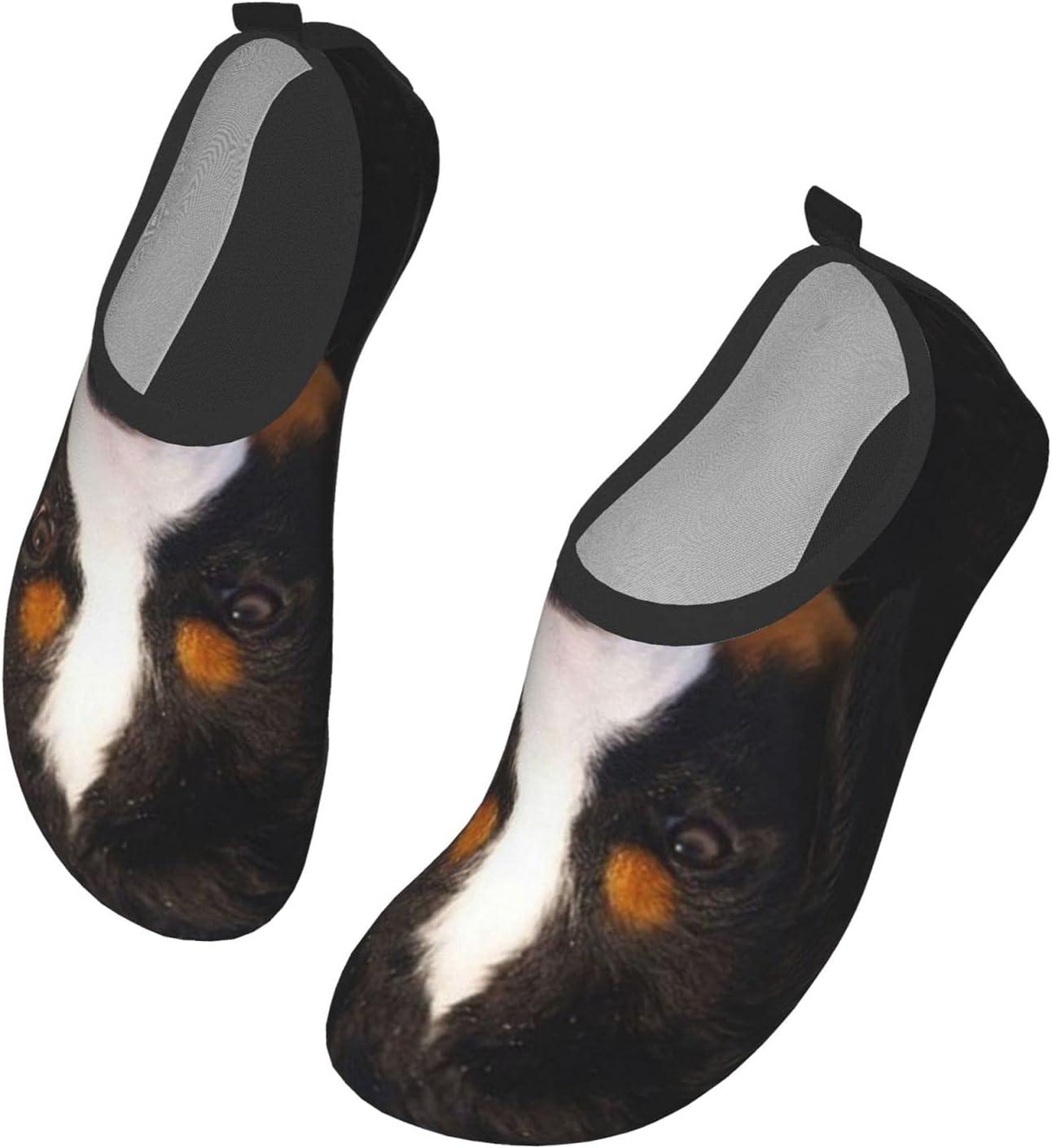 NA Bernese Mountain Dog Men's Women's Water Shoes Barefoot Quick Dry Slip-On Aqua Socks for Yoga Beach Sports Swim Surf