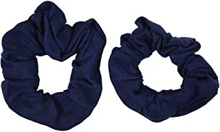 Set of 2 Solid Scrunchies - Navy