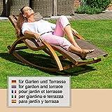 Relax Schaukelstuhl Rio, Relaxliege mit Armlehnen, Gartenmöbel aus vorbehandeltem Holz - 6