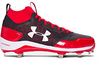 red white and blue under armour baseball cleats