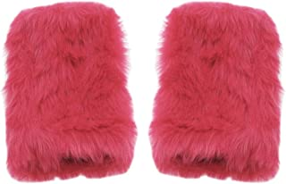 XPERRY Women Winter Furry Mittens Faux Fur Warm Soft Fingerless Half Finger Arm Warmer Gloves