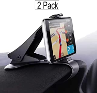 2Pack Car Cell Phone Mount,Durable Dashboard Holder Cradle Cellphone Clip GPS Bracket Mobile Stand Compatible for iPhone Xs MAX XR,X, 8, 8 Plus, 7, 7 Plus, Samsung Galaxy S9,S8 Plus Ede,etc-Black