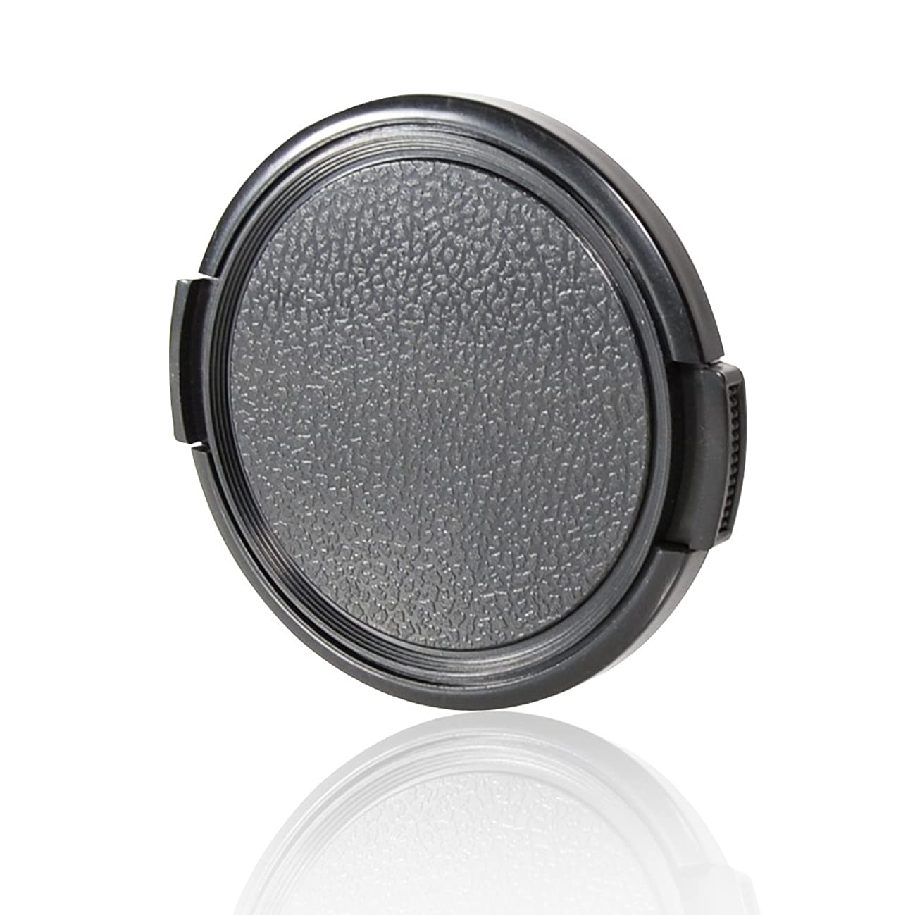 CamDesign 55MM Sides Pinch Snap-On Front Lens Cap/Cover Compatible with Canon, Nikon, Sony, Pentax all DSLR lenses