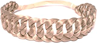 Mia Chainlink Braidie Headband, Classic + Chic Braided Synthetic Hair Accessory, Blonde, for Women, Girls, Fashionistas 1pc