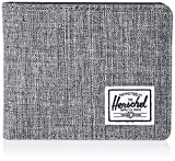 Herschel unisex adult Hank Rfid Bi Fold Wallet, Raven Crosshatch/black Synthetic Leather, One Size US