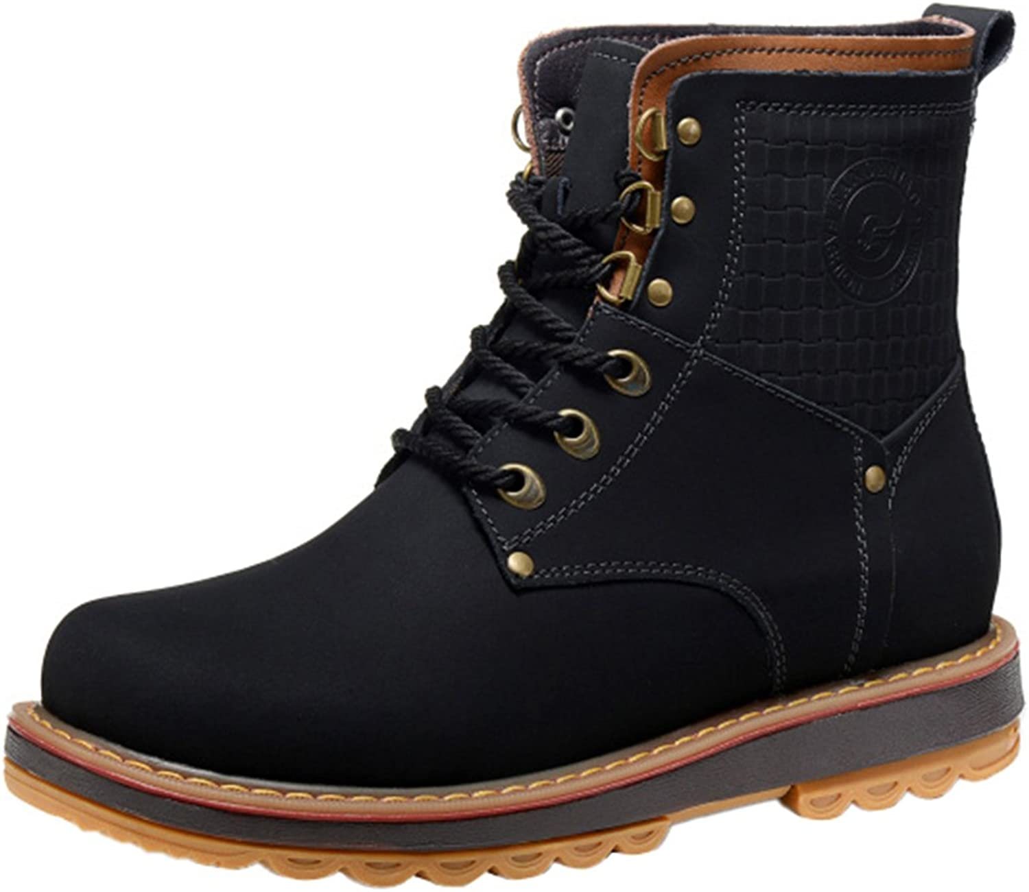 Work & Safety Boots Men's Boots Humor Mens Ankle Boot Genuine Leather Spring Autumn Casual Safety Boots Outdoor Male Steel Toe Cap Work Shoe Footwear Walking Shoes