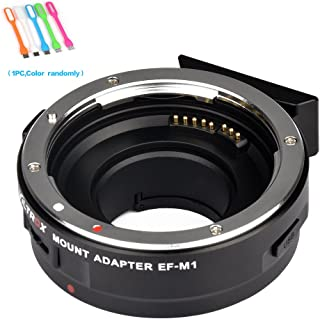 VILTROX EF-M1 Auto Focus Lens Mount Adapter AF,EXIF Adapter Compatible for Canon EF/EF-S Lens to M4/3 Olympus,Panasonic Cameras