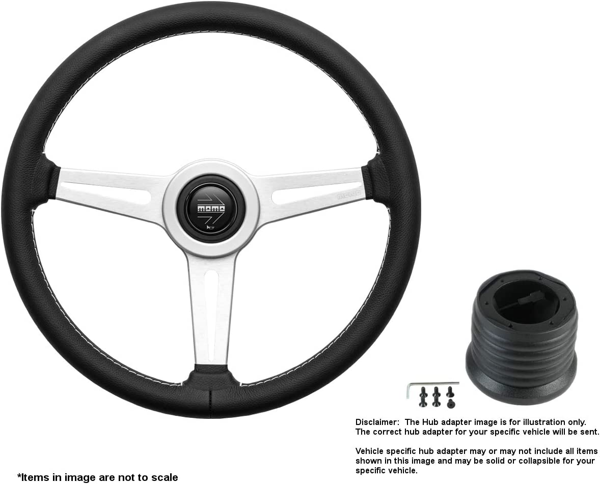 MOMO Cheap SALE Start Retro 360mm 14.17 Inches Save money Wheel Steering Brushed w Leather