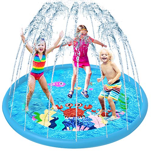VATOS Sprinkler Splash Pad Water Play Mat for Kids Toddler, 67'' Kids...