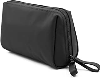 Admirable Idea Small Size Makeup Pouch for Womens Travel Cosmetic Bag for Girls Essential Oil Carrying Bag -black