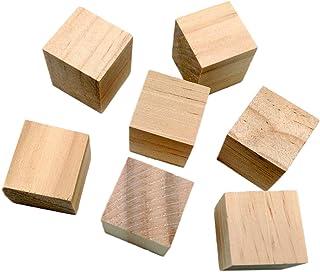 Fityle 20個 20mm DIY 手芸用 クラフト 素朴 木製 木のブロック キューブ ミニ立方体 ホビー 装飾