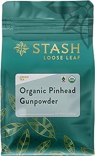 Stash Tea Organic Pinhead Gunpowder Green Loose Leaf Tea 3.5 Ounce Pouch (Packaging May Vary) Fair Trade Certified Premium...