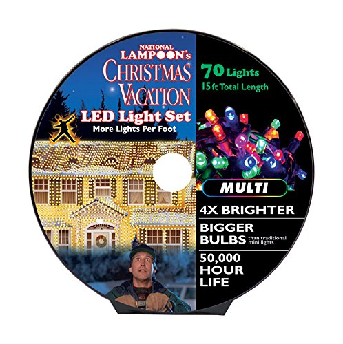 National Lampoon's LED Concave 8mm Commercial Light Set Multicolored 15 ft. 70 lights