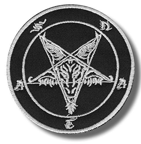 Baphomet, Pentagram - Embroidered Patch, 8 X 8 cm