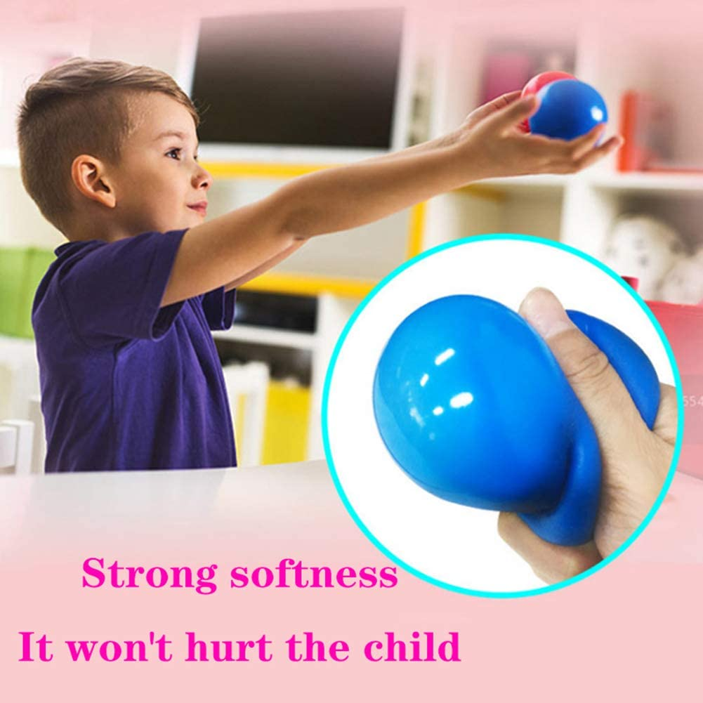 boules cibles collantes Balle de jonglage de Dodgeball pour Enfants et Adultes boules murales collantes Les balles Peuvent /être coll/ées au Plafond ou sur Le Mur Balle Anti-Stress Collante 6cm
