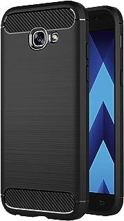 AICEK Funda Compatible Samsung Galaxy A5 2017, Negro Silicona Fundas para Galaxy A5 2017 Carcasa A520 (5,2 Pulgadas) Fibra de Carbono Funda Case