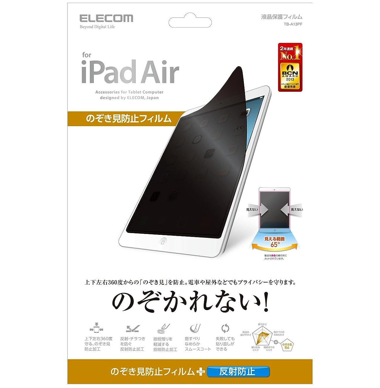 浴ピンク塩辛い【2013年モデル】ELECOM iPad Air  プライバシーフィルム TB-A13PF
