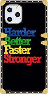 Case for iPhone 11 Pro Max Quote About Success and Life Harder Better Faster Stronger Full Body Shock Absorption TPU Rubbe...
