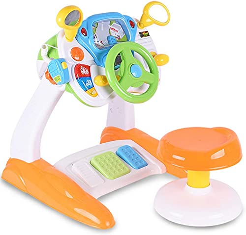 QHWJ Kindersimulationsspielzeug, Rollenspielsimulationskabine Simulationskopf Lenkkonsole mit Musik 2-6 Jahre altes Lernspielzeug
