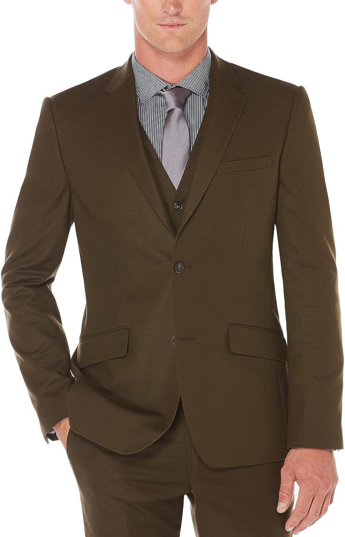 Perry Ellis Men's Slim Fit, Stretch Solid Sateen Suit Jacket
