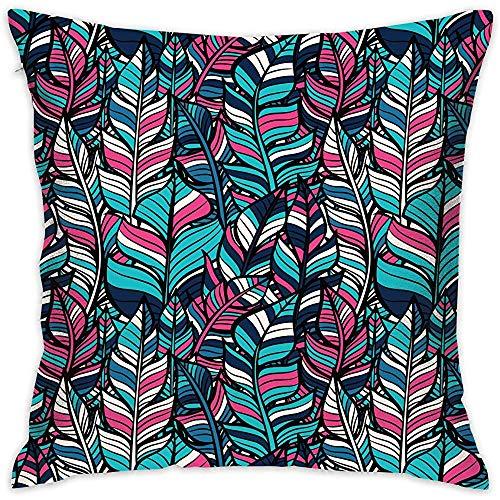 July decoratieve kussenslopen Boho veren patroon kussenslopen kussenslopen voor bank slaapkamer-61W-26Q