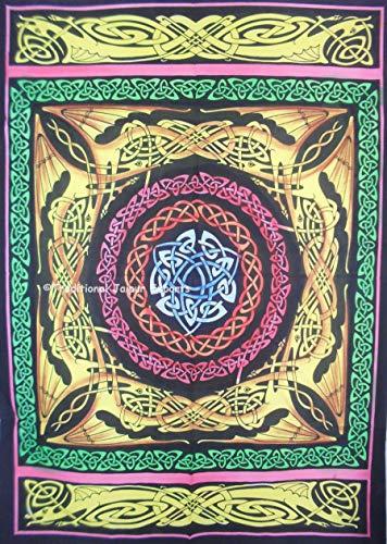 Hand Pinsel bemalte keltische Trinity Bar Wand Kunst Poster, religiöse Wand-Dekor, böhmische Wandbehang, Hippie Wohnheim Zimmer Dekoration, Gypsy Wandkunst, Größe 30