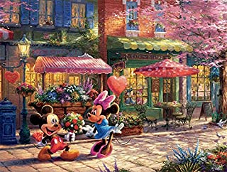 Ceaco The Disney Collection - Mickey & Minnie Sweetheart Café Puzzle by Thomas Kinkade (750 Piece)