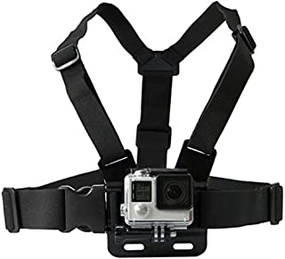 QuikProf GoPro Adjustable Chest Strap Mount Body Belt Harness For Gopro Hero, SJCAM, Yi & Other Action Cameras