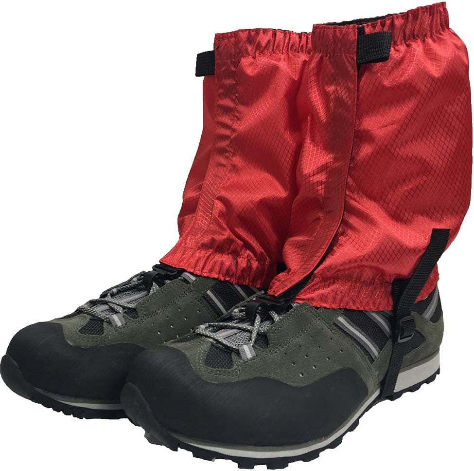 running leg guard bootlegging gaiter snow breathable red walking Hiking gaiters for outdoor camping backpacking ankle