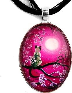 sakura necklace pendant