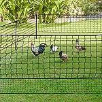 IDMarket - Kit clôture Filet à Poules 24 M avec Porte 9 piquets Double Pointe #1