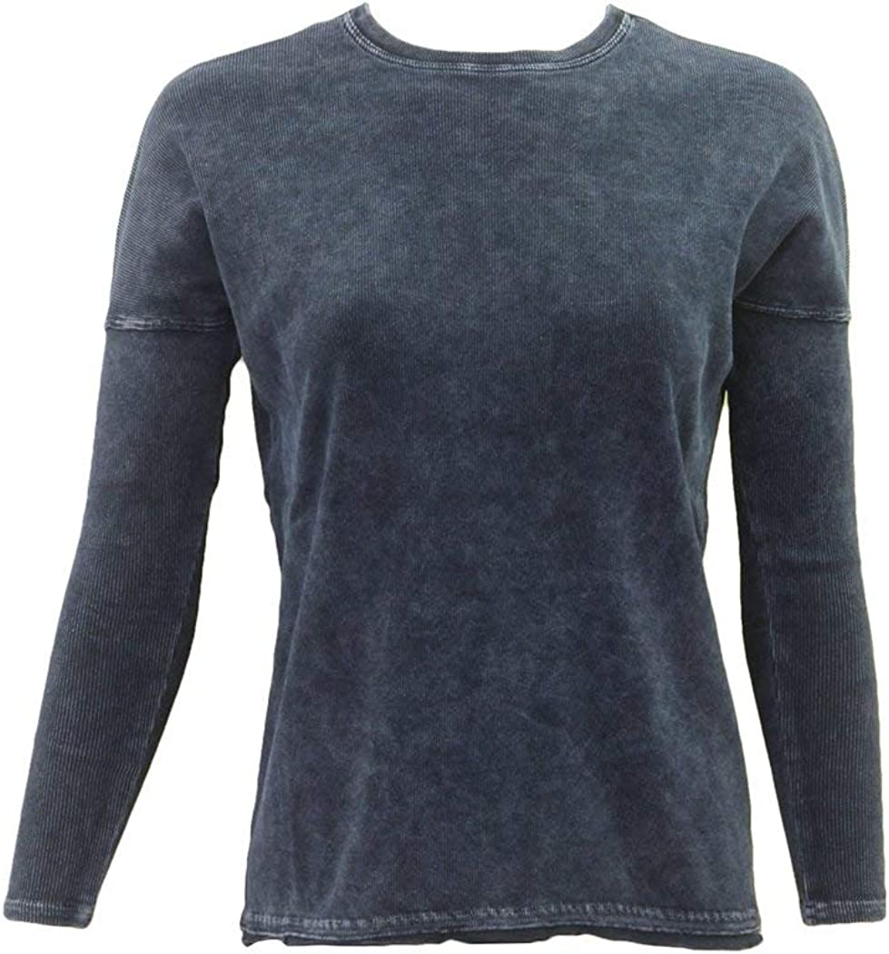 Hard Ranking TOP13 Tail All items in the store Womens Ribbed Long Sleeve Float Crewneck Shirt St Hem