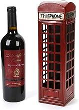 HTTJJ Countertop Independent Metal Wine Rack,Unique Retro Telephone Booth Wine Rack,Suitable for Wine Cabinet,Wine Cellar,...