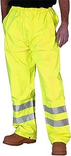 Forever Mens Hi Viz Waterproof Rain Over Trousers High Vis Visibility Pants