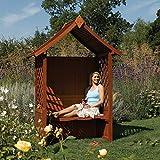 Rowlinson English Garden Wood Arbor with Seat