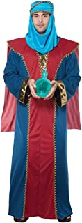 Men's Balthasar, Wise Man (Three Kings) - Adult Costume Adult Costume, Red/Blue, Small/Medium